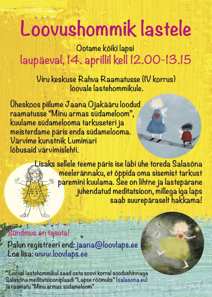 Laste loovushommiku poster