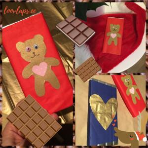 Jõulueri: Isetehtud originaalne ümbrispaber šokolaadile